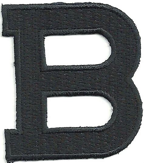 tall black monogram block letter  embroidery patch ebay