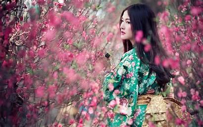 Japanese Geisha Asian Background