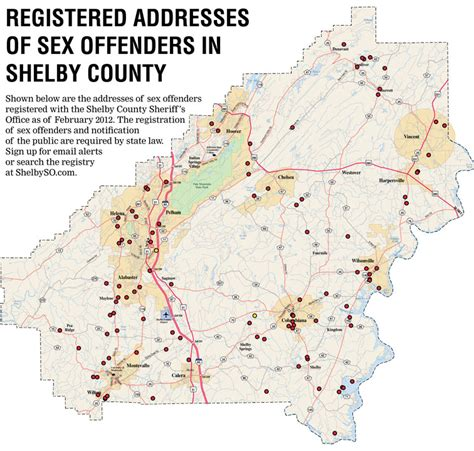 List Of Known Offenders Addresses Shelby County