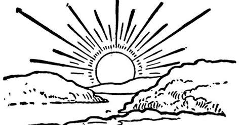 black  white sun clip art sunrise clipart