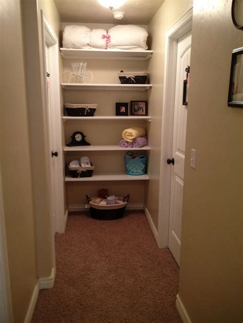 12 best images about Open shelving hallway closet on