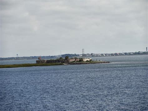 Big Boat In Charleston Harbor by The Simmons Saga Cruising Charleston Harbor Charleston Sc