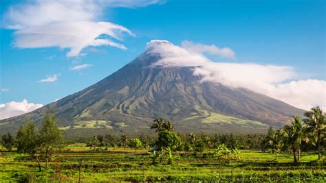 mount mayon volcano time lapse stock footage video