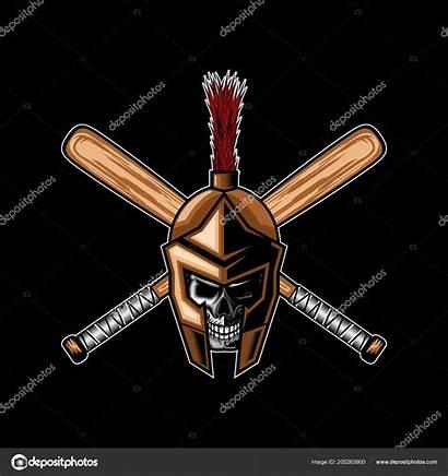Baseball Team Spartan Skull Template Eko07