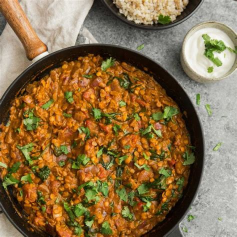 cooking lentils vegan red lentil masala with spinach naturally ella