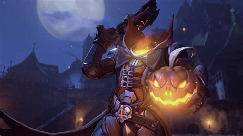 Animated Overwatch Wallpaper - overwatch reaper pumpkin skin animated wallpaper 1440