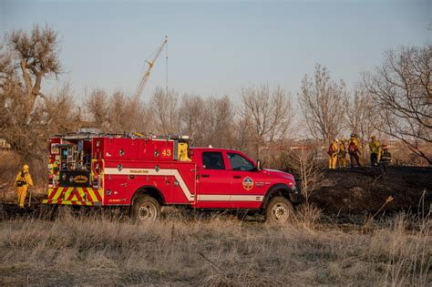 Red Type 6 Engine In Field With Several Firemen