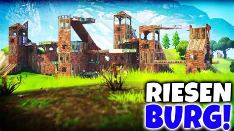 das groesste schloss  fortnite battle royale bauen youtube