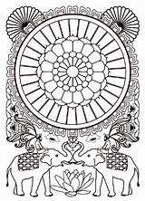 Coloring India Adult Coloriage Elephants Bollywood Pages Mandala Inde Adults Imprimer Adulte Indian Pour Hindu Gratuit Dessin Colouring Difficult Printable sketch template