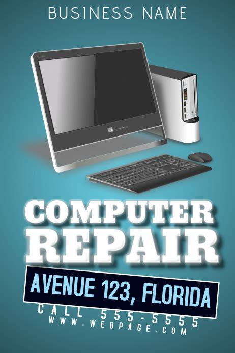 computer repair flyer template postermywall