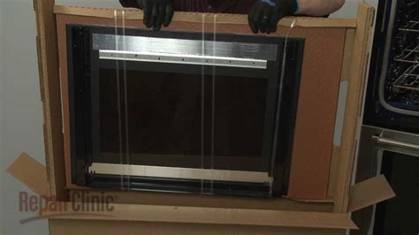 kitchenaid double wall oven outer door glass assembly