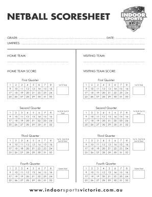get netball scoresheet pdf pdf form sles to fill