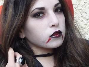 Maquillage D Halloween Pour Fille : maquillage d halloween vampire fille maquillage d halloween qui fait peur cotillonsetdeguisements ~ Melissatoandfro.com Idées de Décoration