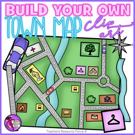 Build Your by Build Your Own Town Map Clip