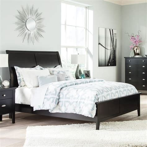 Ashley Braflin Wood Sleigh Bed In Black B591slhbmkit