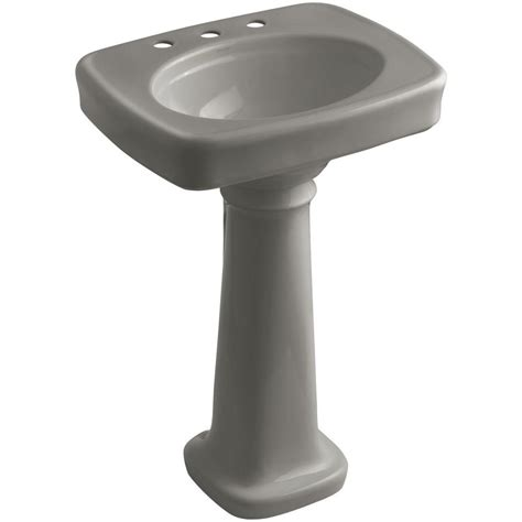 Kohler Bancroft Pedestal Sink by Kohler Bancroft Vitreous China Pedestal Combo Bathroom