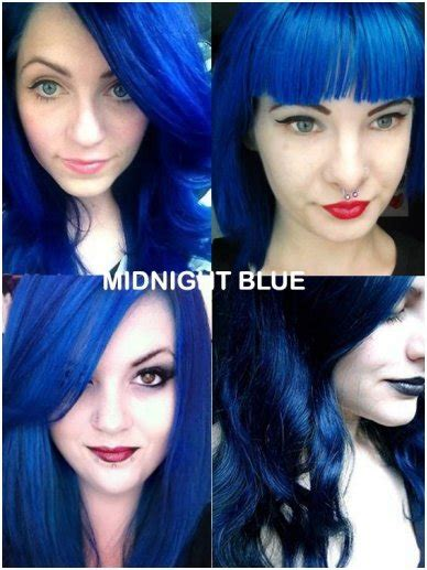 Coloring Hair Blue by Coloring Hair Balsam Midnight Blue Directions Brand Hair