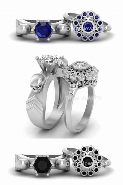 Rings Skull Engagement Ring Band Jewelry Dfinejewelrystore