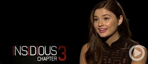 Video: Insidious: Chapter 3's Stefanie Scott Breaks The ...