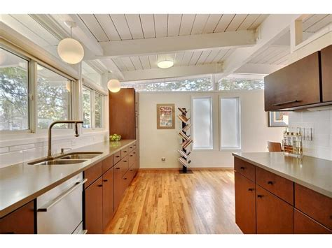 vaulted ceiling mid century modern google search home pinterest flats kitchen ceilings