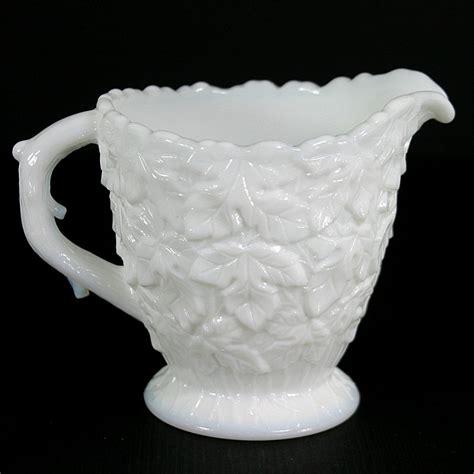 westmoreland milk glass westmoreland bramble milk glass creamer
