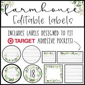 farmhouse labels editable  ayanna saunders tpt