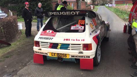 peugeot 205 t16 evo 2 b sound starts peugeot 205 turbo 16 evo 2 start tac rally brc 2016