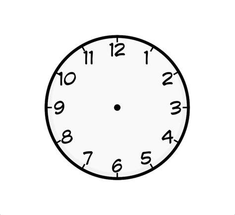 printable clock templates  word  format