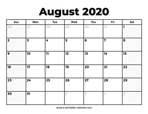 august  calendar   aashe