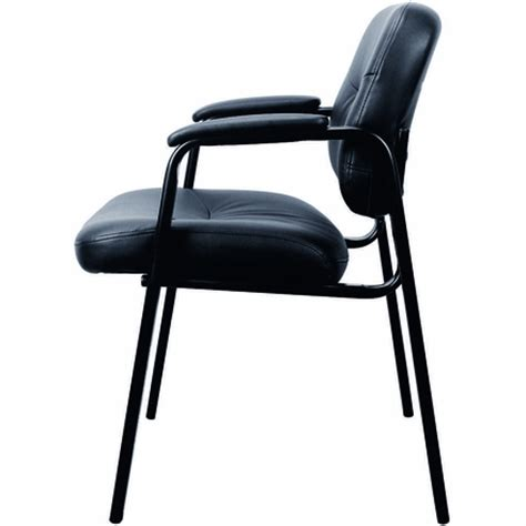 essentials by ofm black leather executive side chair