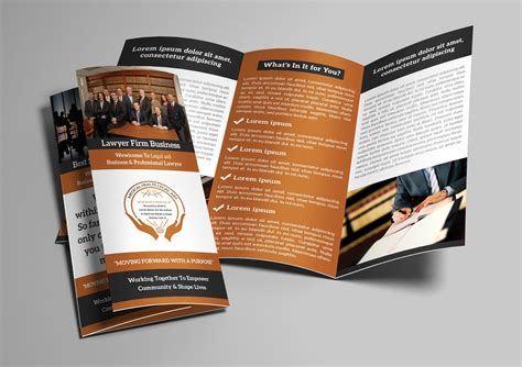 law firm trifold brochure brochure templates creative