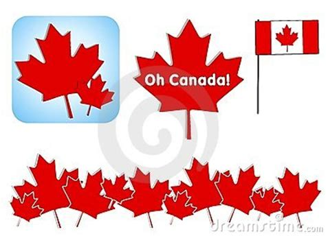 canada day clip art stock photography image