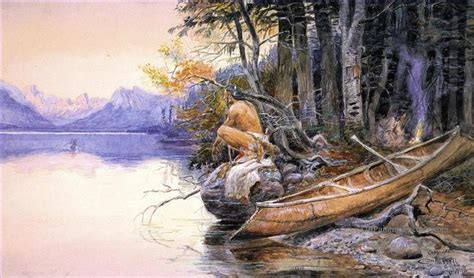 Fireboat En Anglais by Paintings Of 4 Indian C Lake Mcdonald Indians