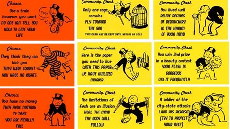 chance and community chest cards template alternate monopoly cards