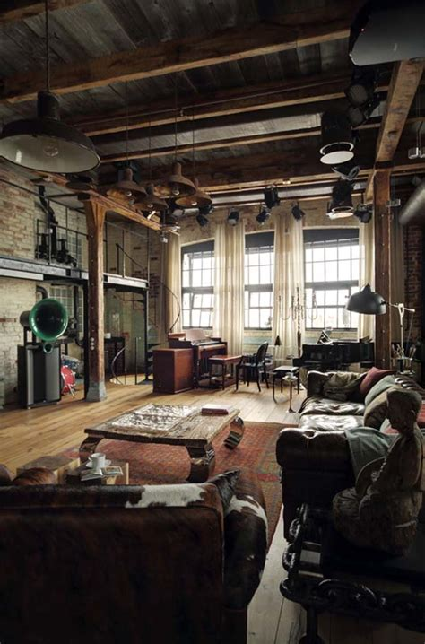 living room apartment captivating industrial style loft apartment in moscow Industrial