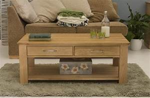 conran solid oak living room lounge furniture four drawer With oak coffee tables with storage space