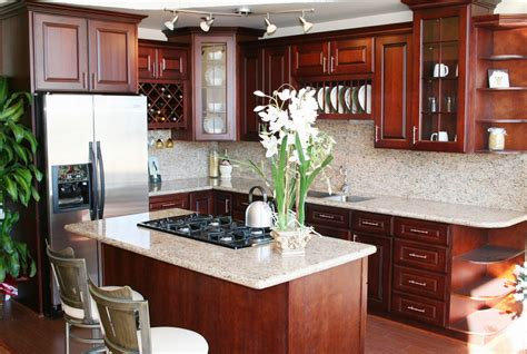 cherry wood cabinets with granite countertop cherry kitchen cabinets designs colors ideas decor craze