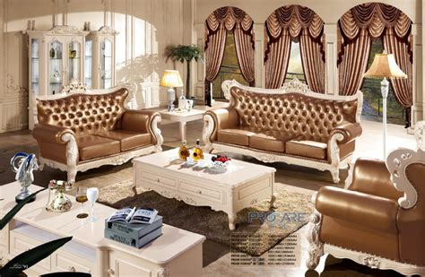 luxury modern style leather sofa set for living