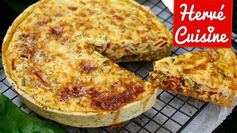 recette hervé cuisine recette de quiche végétarienne facile