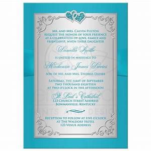 wedding invitation turquoise silver floral printed With wedding invitation designs aqua blue