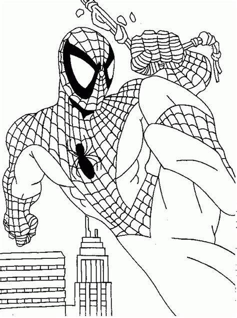 coloring page spiderman coloring pages