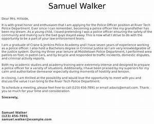How To Write A Letter To A Recruiter Police Officer Cover Letter Examples Samples Templates