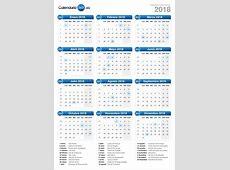 Calendario 2018 Calendar Template 2019