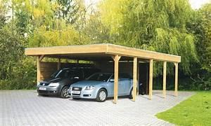 Holz Für Carport Kaufen : holz carport bausatz skanholz friesland aluminiunmdach flachdach doppelcarport kaufen im ~ Orissabook.com Haus und Dekorationen