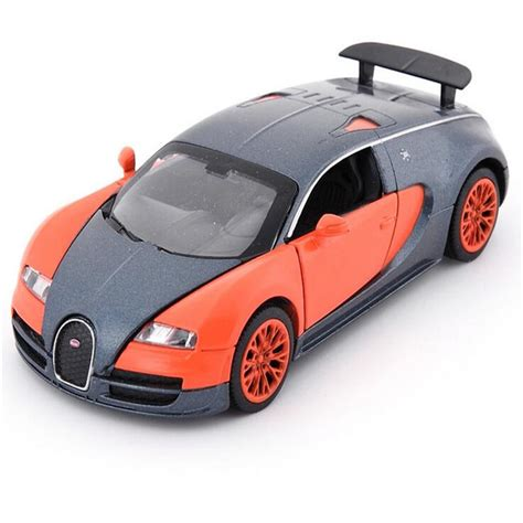 Front hood, trunk, front and rear doors can be opened, sound and light, pull back. 1:32 Bugatti Veyron Alloy Diecast Car Model Electronic Car ...