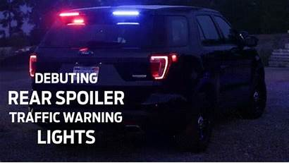 Police Ford Interceptor Lights Rear Spoiler Trick