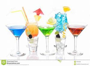 Various Types Of Alcohol Cocktails Stock Photography ...