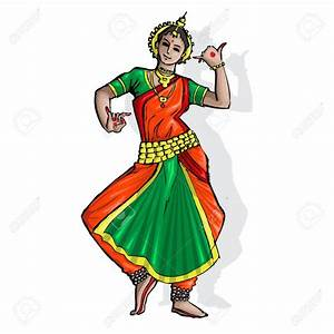 Folk clipart indian dance form - Pencil and in color folk ...