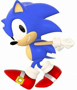 Classic Sonic Running Render by nikfan01 on DeviantArt