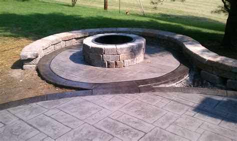 sted concrete patio sted concrete border and